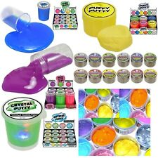 Squishy Stretchy Glitter Gummy Slime Puffy Crystal Neon Putty Light Party Bag