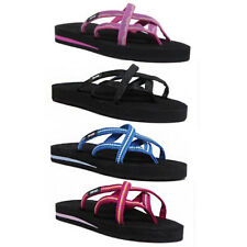 7ff2be0e5ca9f Teva Olowahu Women Other Fabric Vida Raspberry Flip Flops Size UK 3 - 8