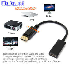 Display Port DP To HDMI Adapter HD 1080P M/F Cable Connector Audio Video Laptop
