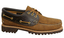 Timberland Authentic 3 Eye Classic Lug Mens Boat Shoes Deck Brown A19T9 D7