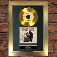 #125 GOLD DISC BRUNO MARS Unorthodox Jukebox Signed Autograph Mounted Repro A4