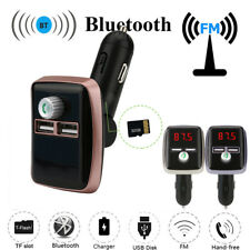 Dual USB FM LCD Transmitter Wireless MP3 TF Radio Adapter USB Charger Car Kit