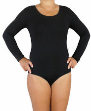 body mujer manga larga bodysuit leotardo top camiseta sin costura microfibra