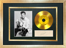 #131 GOLD DISC ELVIS PRESLEY Thats All Right Signed Autograph Mounted Repro A4