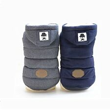 Puppy Pet Dog Winter Clothes Super Warm Coat Jacket Button Front Outfit Costumes