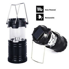 6 LED Portable USB Solar Light Rechargeable Lantern Outdoor Camping Hiking Lamp