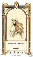SANTINO HOLY CARD BEATO DOMENICO NAVARRO MERCEDARIO