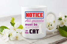 Be Approved By The Cat Funny Novelty Cup Ceramic Mug Funny Gift Tea Coffee