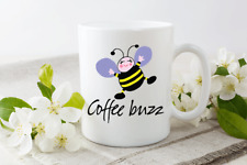 Coffee Buzz Funny Novelty Cup Ceramic Mug Funny Gift Tea Coffee