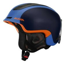 ALPINA adulto Casco da sci Casco da sci Spine BLU ARANCIONE BLUE-ORANGE OPACO