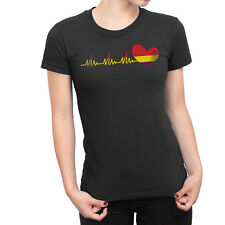 SPAIN Republican Heartbeat Ladies T-Shirt WOMENS Spain Espana Spanish Gift