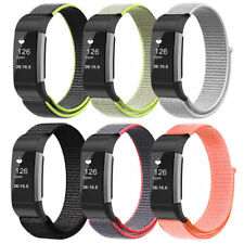 Sports Hook and Loop Nylon Wrist Band Strap Bracelet for Fitbit Charge 2 Tracker