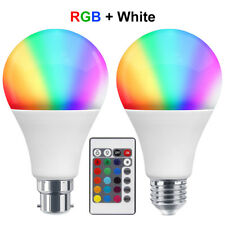 RGB 16 Colour Changing Remote Controlled LED Light Bulb 7W B22 or E27 A80 GLS