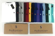POLO RALPH LAUREN MENS GENUNE NEW CUSTOM FIT COTTON PLAIN CREW NECK T-SHIRTS