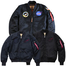 ALPHA INDUSTRIES giacca invernale uomo MA-1 VF NASA BOMBER S S-3XL