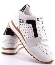 NWB Michael KORS Billie Trainer Leather Sneakers Optice White Size 9 US