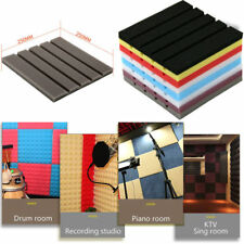 1xAcoustic Foam Panel Sound Stop Absorption Sponge Studio KTV Soundproof Pad TB
