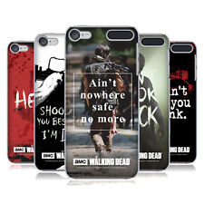 OFFICIAL AMC THE WALKING DEAD QUOTES HARD BACK CASE FOR APPLE iPOD TOUCH MP3