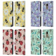 HEAD CASE DESIGNS WATERCOLOUR INSECTS LEATHER BOOK WALLET CASE FOR LG PHONES 1