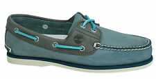 Timberland 2-Eye stile classico, pelle pizzo blu Uomo Scarpe barca A16KY D7