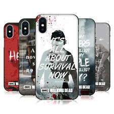 OFFICIAL AMC THE WALKING DEAD QUOTES BLACK SOFT GEL CASE FOR APPLE iPHONE PHONES