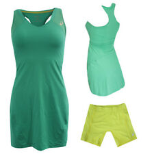 Asics MotionDry Athlete Green Yellow Womens Tennis Dress Shorts 121697 5008 Z11