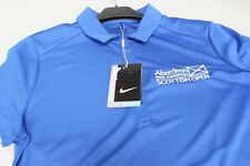 Nike Scottish Open Golf Aberdeen Asset Management Ladies Polo Sleeved Royal Blue