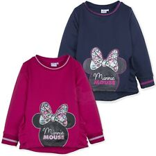 Officiel Disney Minnie Mouse Fille Chaud Sweat Pull 2-8 Ans Neuf 2018/19