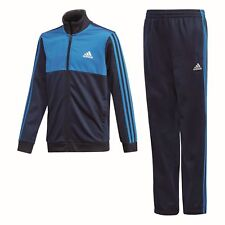 Adidas Performance Niños Chandal Tibero Track Suit Closed Hem Azul Blanco