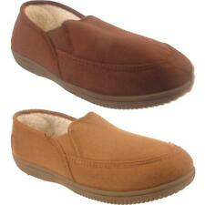 New Mens Slip On Warm Winter Fur Lined Faux Suede Casual Moccasin Slippers Shoes