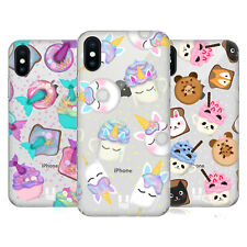 HEAD CASE DESIGNS CIBO KAWAII COVER RETRO RIGIDA PER APPLE iPHONE TELEFONI