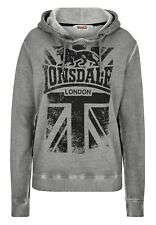 Lonsdale Mujer Sudadera East Mey Sport Fit Fitness Logotipo de Marca Xs S M L XL