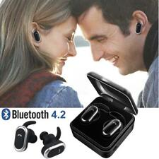 Twins Wireless BT Headphones Stereo Headset In-Ear Earbuds with Charging Dock