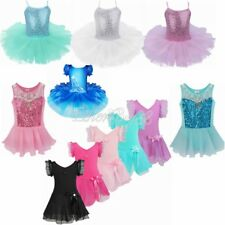 Girl Kid Gymnastic Ballet Leotard Tutu Dress Ballerina Dance Wear Fancy Costume