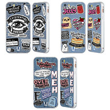 HEAD CASE TOPPE DENIM STAMPATE ARGENTO COVER CONTORNO PER APPLE iPHONE TELEFONI