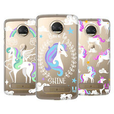 HEAD CASE DESIGNS UNICORNI COLORATI COVER RETRO RIGIDA PER MOTOROLA TELEFONI 1