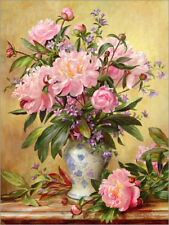 Poster / Toile / Tableau verre acrylique Vase of Peonies and ... - A. Williams