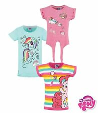Oficial My Little Pony Niña Top Manga Corta Camiseta 100% Cotton Nuevo 2018