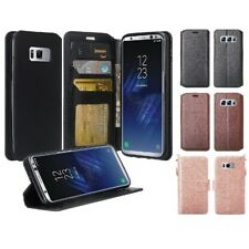 For Samsung Galaxy S9 Plus Leather Wallet Credit ID Card Pouch Case Flip Cover