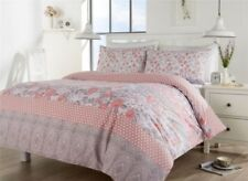 Chelsea Housse Couette Ensemble,Floral Simple Double King Size Linge de Lit,Rose