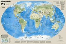 National Geographic Maps The Dynamic Earth, Plate Tectonics Wall Map