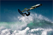 Poster, stampa su tela o vetro acrilico Windsurfer in the air ab... - B. Welsh