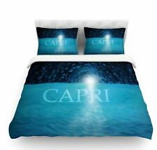 The Grotto of Capri by Theresa Giolzetti Featherweight Duvet Cover