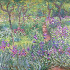 Póster, lienzo o cuadro en metacrilato Irisbeet in the garden - Claude Monet