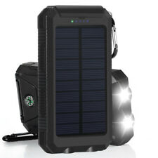 10000mah Dual-USB Waterproof Solar Power Bank Battery Charger for Cell Phone DSU