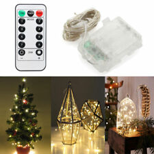 10-100 LED Lights Xmas Outdoor Fairy Star Cork String Lights Battery Operated
