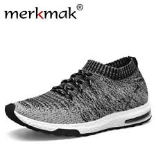 Merkmak New 2018 Men Casual Sneakers Breathable Mesh Man Fashion Shoes Footwear