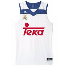 Adidas Real Madrid pour Homme Basketball Débardeur Blanc Sport Maillot