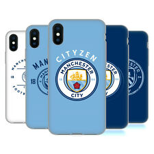 MANCHESTER CITY MAN CITY FC 2018/19 BADGE CASE IN GEL PER APPLE iPHONE TELEFONI