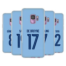 MAN CITY FC 2017/18 GIOCATORI HOME KIT 1 CASE IN GEL PER SAMSUNG TELEFONI 1